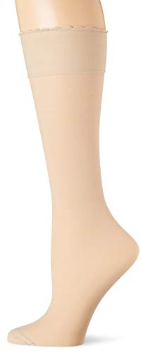 - HUE Women's Graduated Compression Sheer Knee Hi Socks, cream, One Size