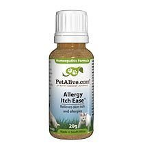 3 Bottles of PetAlive Allergy Itch Ease Natural Homeopathic Remedy temporarily relieves Skin Allergies and Irritations, plus Soothes Itchy Skin on Cats and Dogs 20g in each bottle - FDA NDC: 68703-010-20