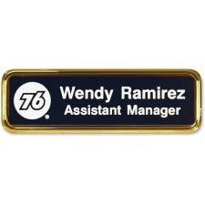 Xstamper Logo Frame Name Badge