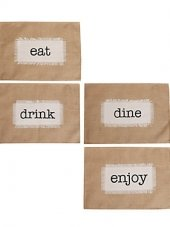 Dining Words Set of 4 Placemats by Marlo Lorenz
