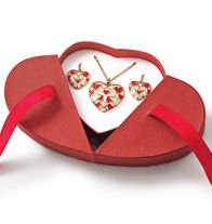 - Floating Hearts Necklace and Earring Gift Set