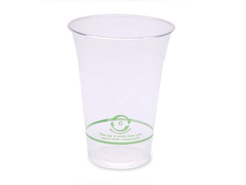 16 Oz. PLA Clear Corn Plastic Biodegradable Cold Cup (Case of 1000)