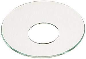 Cape Candle Bobeche Wax Catchers Plain Glass Set of 10 ()