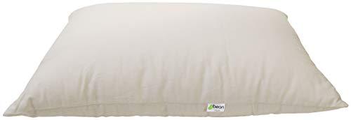 Bean Products Queen Organic Kapok Pillow - 20 x 30 - Organic Cotton Zippered Shell - Made in USA