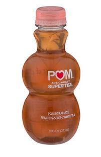 POM Wonderful Pomegranate Peach Passion Tea Plastic Bottle 12 oz Pack of 6