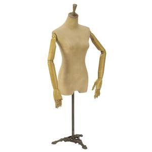 Antiqued Female Body Form with Movable Arms by Retail Resource (Image #1)