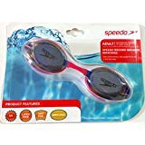 Speedo Record Breaker Mirrored Latex Free UV Protection Anti Fog Goggles for Adult Recreational Swimmers 15 years and up (Bohemian Pink)