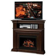 Amazon.com: Dimplex Montgomery Corner Electric Fireplace Media Center - Espresso: Home & Kitchen