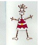 Santa Pin Holiday Greeting Card Fair Trade Handmade