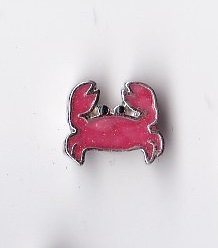 Red Crab Floating Charm