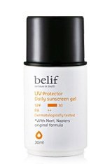 KOREAN COSMETICS, LG Household & Health Care_ belif, UV Protector Daily Sunscreen gel (30ml, UV protection SPF30/PA + +, essence type, skin care, whitening) [001KR] by belif