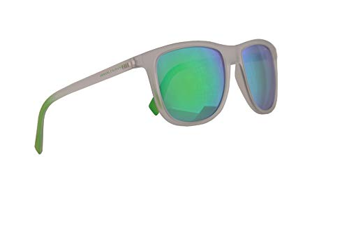 Armani Exchange AX4078S Sunglasses Matte Crystal w/Light Green Mirror Lens 56mm 82583R AX 4078S