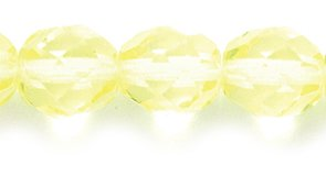 (Preciosa Czech Fire 8mm Polished Glass Bead, Faceted Round, Jonquil Yellow, 75-Pack)
