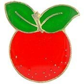 [Metal Lapel Pin - Plants, Fruits and Flowers - Orange] (Fruit Hat Lady)