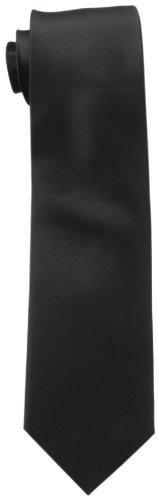 Michael Kors Men's Sapphire Solid II Tie, Black, Regular