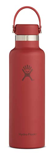 Hydro Flask Skyline Series 21 oz Water Bottle - Stainless Steel & Vacuum Insulated - Standard Mouth with Leak Proof Flex Cap - Brick