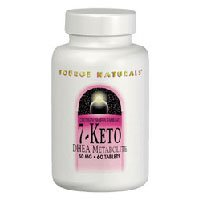 7-Keto, 50 MG, DHEA Metabolite 30 Tabs by Source Naturals (Pack of 2)