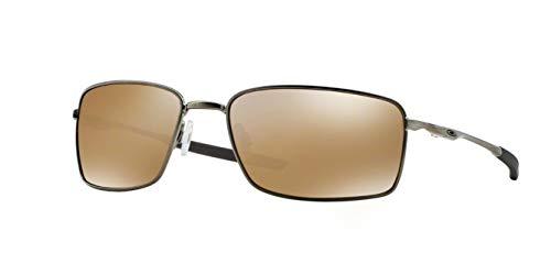Oakley Square Wire, OO4075 (06) Tungsten/Tungsten Iridium Polarized 60mm, Sunglasses Bundle with original case, and accessories (6 ()