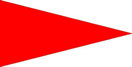 - Solid Red Pennant Flag with 24