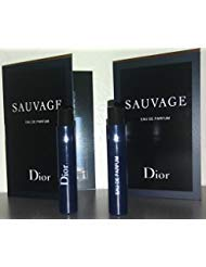 Dior Sauvage Eau De Parfum 2018 Sample-Vials For Men, 0.03 oz EDP -Lot Of 2- -Name Brand Cologne Samples Included-
