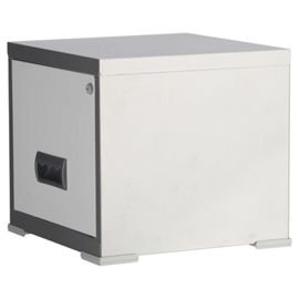 Pierre Henry A4 1 cajón Maxi archivador, Plata Con Blanco Cajón. Ideal para casa