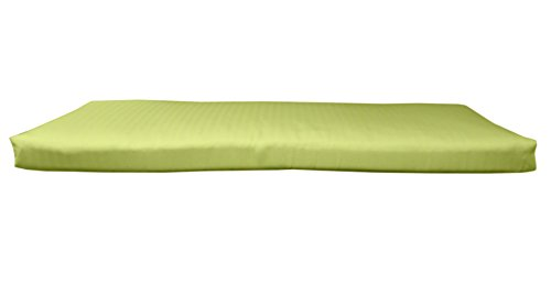 (BHG PU4818B1054 Sunbrella Designer 4' Bench Cushion with Fabric Ties, Spectrum Kiwi)