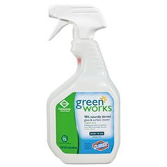 Green Works Glass & Surface Cleaner, Original, 32oz Smart Tube Spray Bottle Clorox Glass