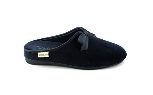 Pantoufles en CI1382 Bleues Pantoufles Blu Grunland Adri Velours Femme 6HIqnUw