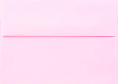 """Pink Pastel 25 Boxed A7 5-1/4"""" x 7-1/4"""" Envelopes for 5"""" x 7"""" Invitations Announcements, Weddings Showers, Greeting Cards from The Envelope Gallery"""
