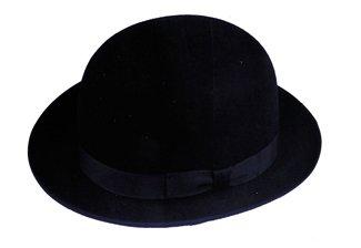 Scala Men's Wool Felt Derby Hat, Black, -