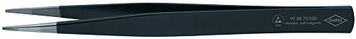 Knipex 92 88 73 ESD Precision Tweezers ESD with rectangular tips 0,9mm by KNIPEX Tools (Image #1)