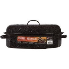 Roaster Enamel Pan (Granite Ware 0508-2 15-Inch Covered Oval Roaster)