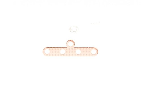 20Pcs Antique-Copper Plated Multi 4 Strand End Bar Clasps 18x6mm