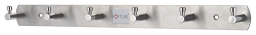Fortune™ Pure Stainless Steel Wall Mounted Hook Rail Bar, 6 Hooks