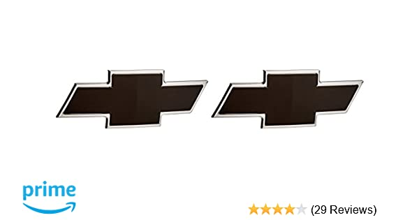 All Sales 96095K 2007-2013 Chevy Silverado Rear Tailgate Black Billet Bowtie New