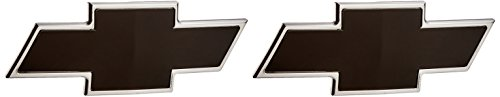 Ami 96101kp Chevy Bowtie Grille Tailgate Emblem Polished Black Powder Coat 2 Pack