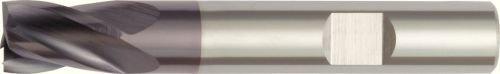 TiAlN Coating 2.5 mm Cutting Dia RH Cut WIDIA Hanita D01402502RW D014 GP Plus Roughing//Finishing End Mill Carbide Weldon Shank 4-Flute