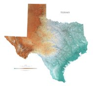 Amazoncom Texas Topographic Wall Map By Raven Maps Print On - Topographical map of texas