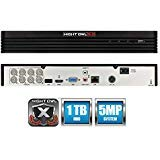 Night Owl 8-Channel 5MP Extreme HD 5.0 DVR 1TB (Compatible with All AHD and HDA Cameras)