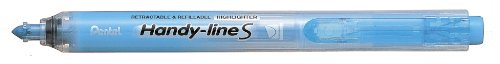 Pentel Handy-line S Retractable/Refillable Highlighters Pack of 12 blue (Pentel Line Retractable Handy)