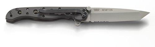 CRKT M16-10S EDC Folding Pocket Knife: Everyday Carry, Serrated Edge Blade, Tanto, Frame Lock, Stainless Steel Handle… 2 Frame Lock Stainless Steel Handles Triple Point Serrations