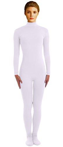 VSVO Adult White Lycra Unitard Zentai Catsuit Dancewear (Small, White) (Dance Revolution Dance Costumes)