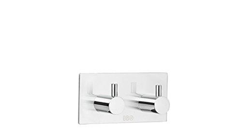 Smedbo BK1106 Design Double Hook, Polished Stainless Steel,