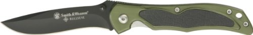 Smith and Wesson SW511 Bullseyes Curved Drop Point Blade, Army Green