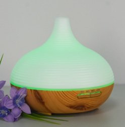 UNISHOW Ultrasonic Aroma Essential Oil Humidifier with Colorful LED Lights and Cool Mist 6.5Wx6H