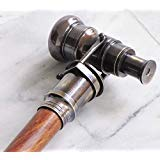 THORINSTRUMENTS (with device) Nautical Collectible Antique Finish Brass Telescope Spyglass Walking Stick Cane          ()