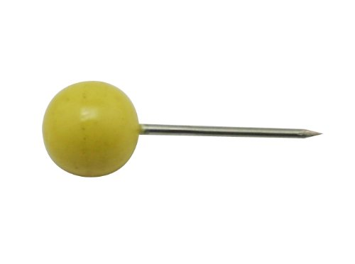 Amanteao Map Pin Pushpin 0.24 Round Head Color Yellow Pack of 200