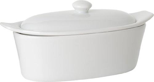 Trudeau Porcelain Butter Boat (Butter Porcelain Keeper)