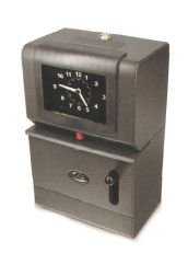 ies Battery Powered Heavy Duty Analog Automatic Time Recorder Charcoal 2100-BATT ()
