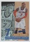 Carmelo Anthony (Basketball Card) 2016-17 Panini Aficionado - Magic Numbers #6